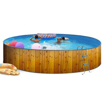 piscine hors sol en acier de forme