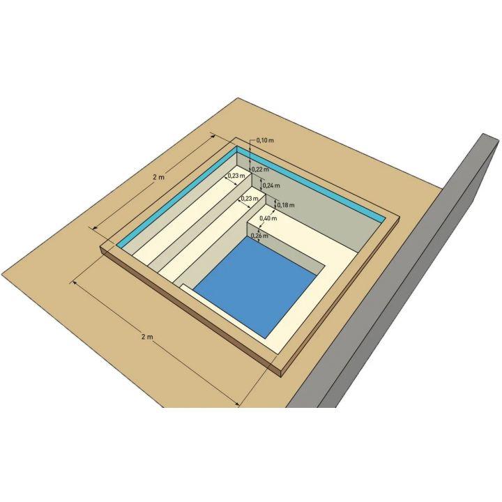 spa en kit beton carre messina 2 x 2 m