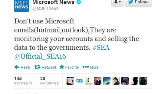 Hacker, Berhasil membajak Account Twitter Microsoft