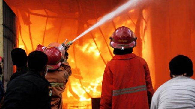 Kediri, Bengkel Ahass Gringging Ludes Terbakar