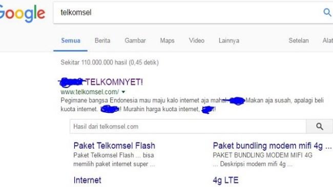 Gawat, Situs Resmi Telkomsel diretas