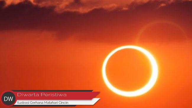 Kecantikan Gerhana Matahari Cincin Bikin Mata Terbelalak!