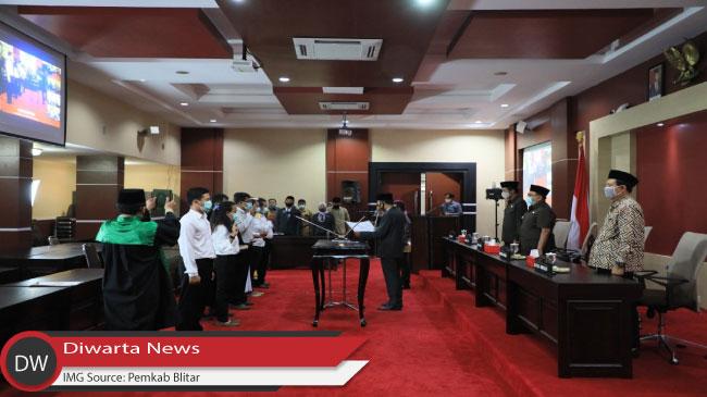 KPU Kabupaten Blitar, Lantik PPS Secara Online, Peserta Dapatkan Pesan Penting dari Bupati