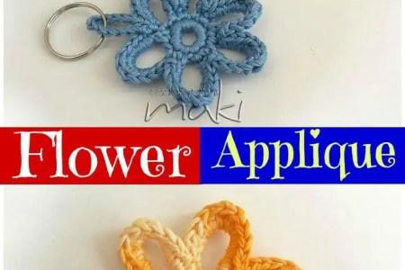 Beautiful Flowers 2019 Large Crochet Flower Applique Pattern