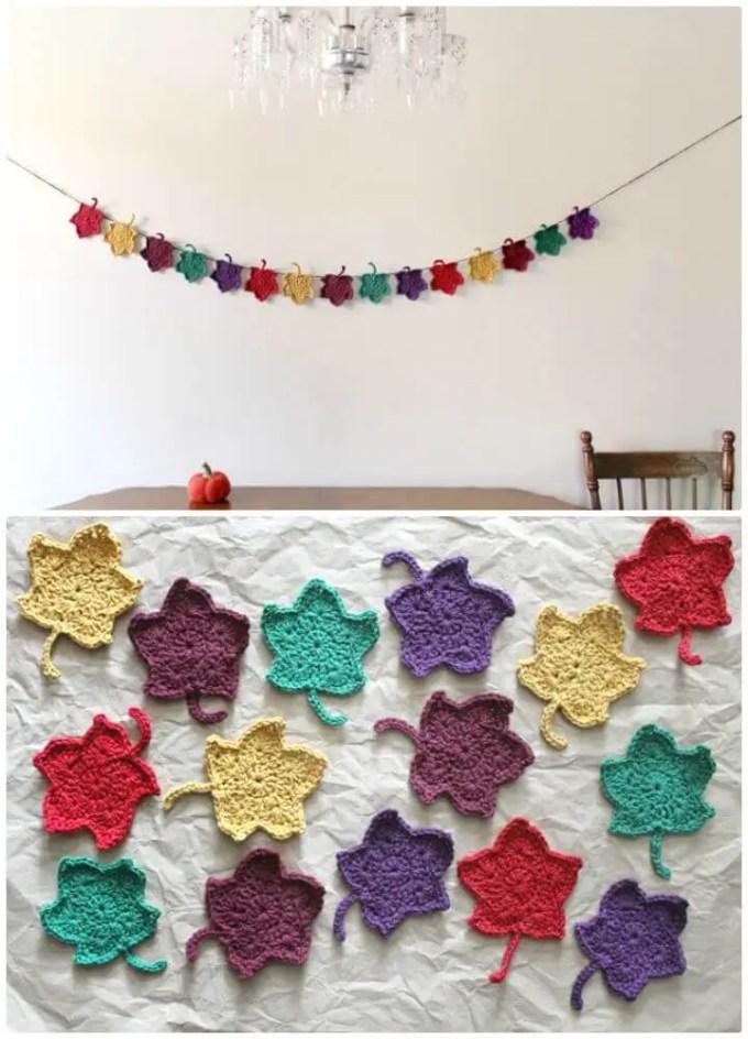 Free Crochet Pattern Leaf Garland Zoshwiki