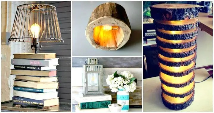 15 Unique DIY Lamp Ideas To Light Up Your Home Creatively