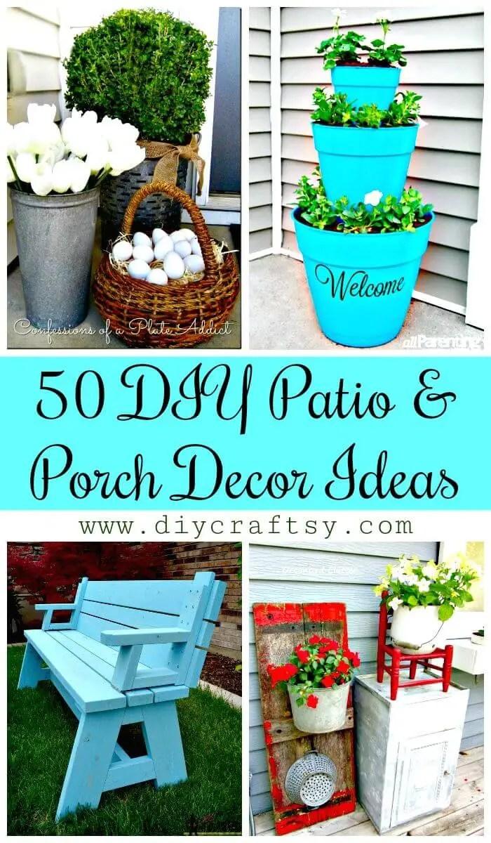50 cool diy patio porch decor ideas