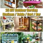 25 Diy Outdoor Serving Stations Table Cart Bar Diy Crafts