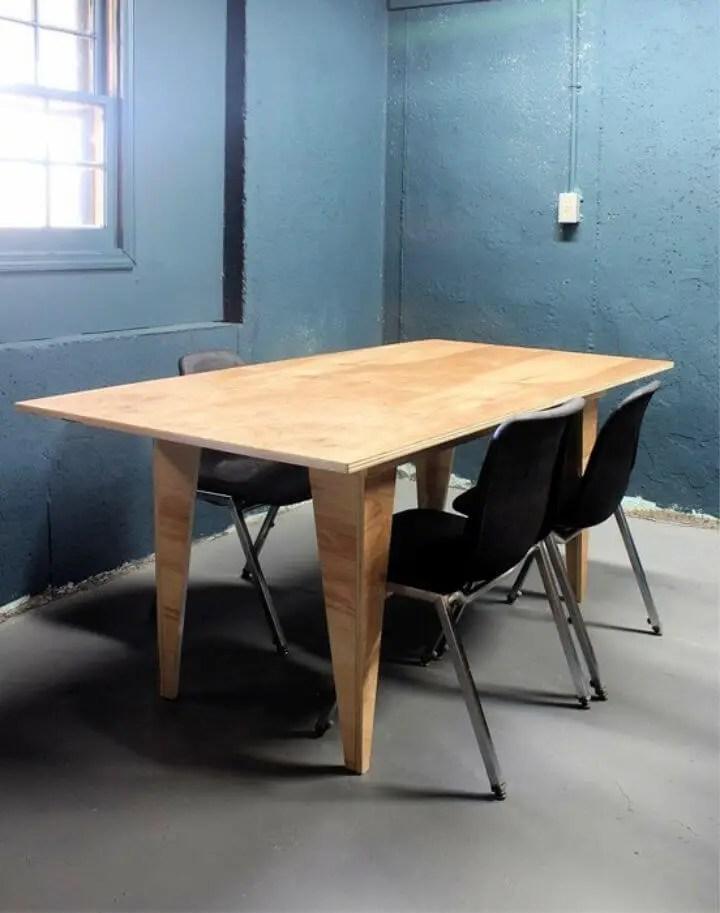 DIY Modern Birch Table
