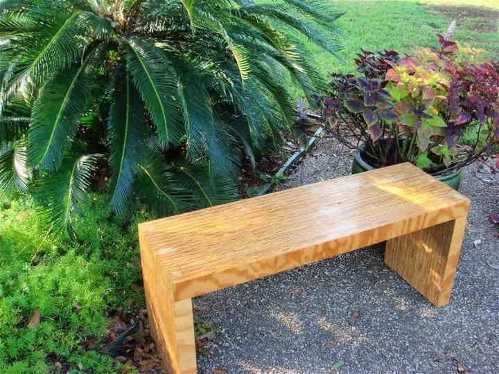 DIY One Sheet Plywood Bench