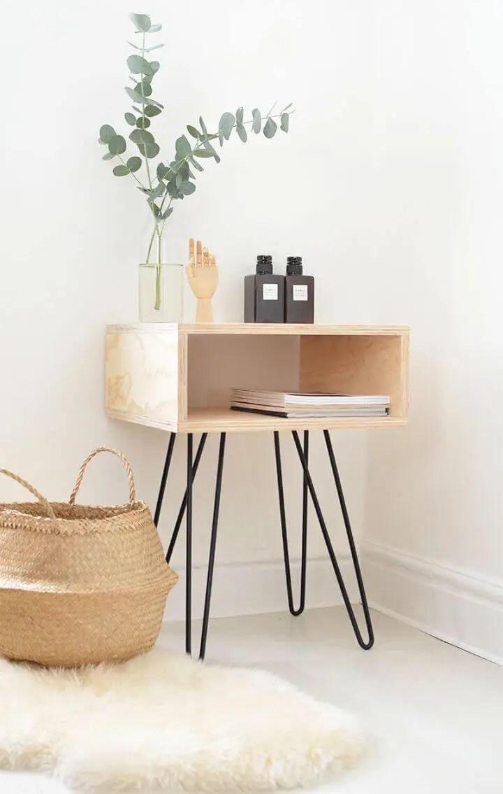 DIY One Sheet Plywood Nightstand