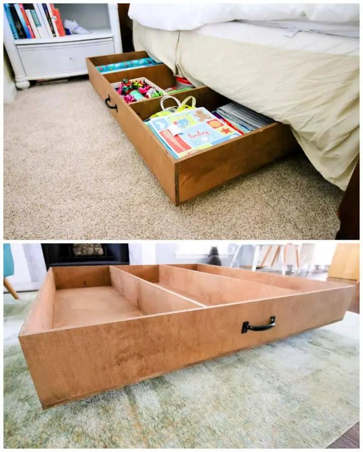 DIY One Sheet Plywood Under Bed Storage