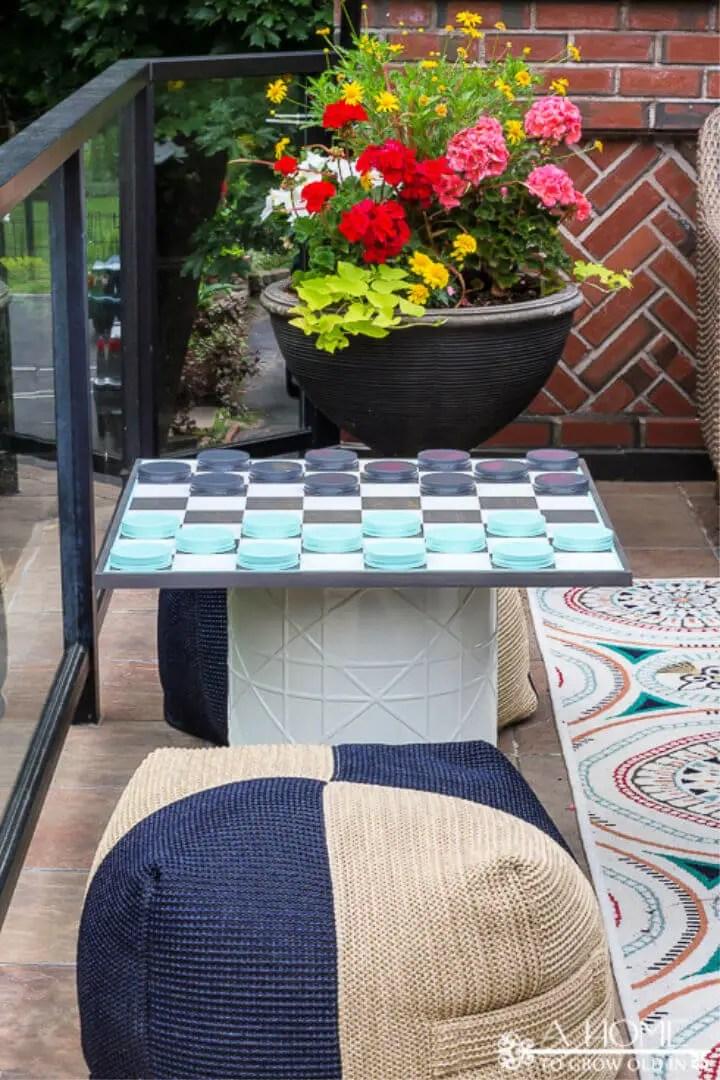DIY Oversized Outdoor Checkerboard Game