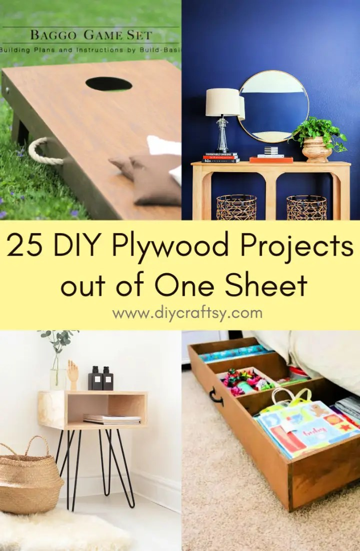 DIY Plywood Projects out of One Sheet