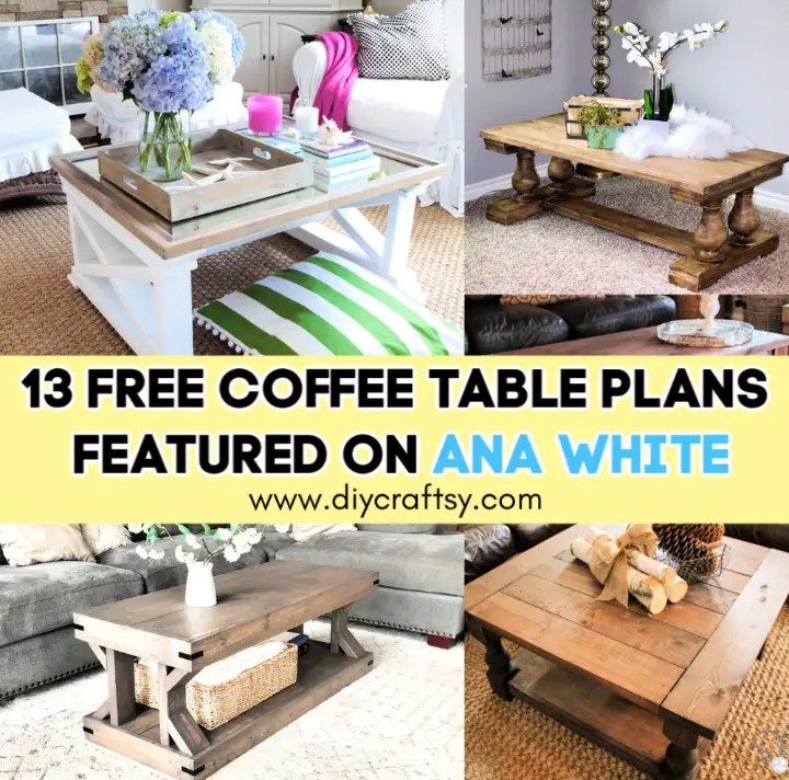 13 Free Coffee Table Plans Featured on Ana White ⋆ DIY Crafts on Coffee Table Plans  id=19244