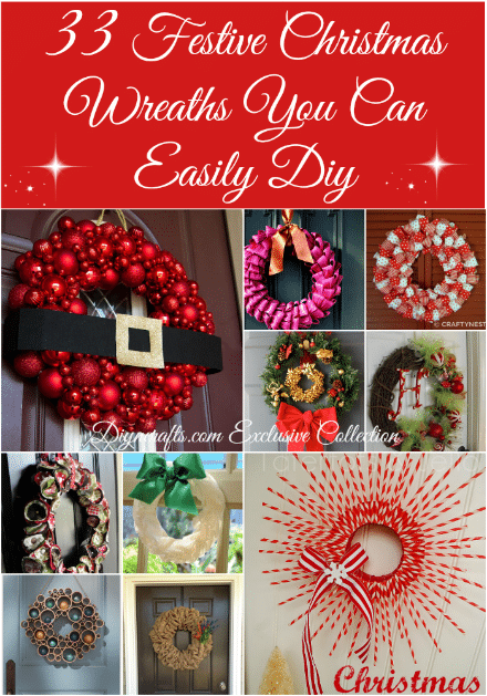 33 Festive Christmas Wreaths You Can Easily Diy Diy Crafts
