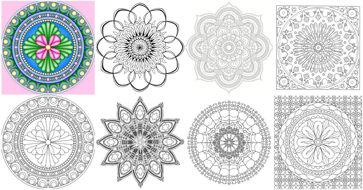 15 Amazingly Relaxing Free Printable Mandala Coloring ... | free printable mandala colouring pages for adults