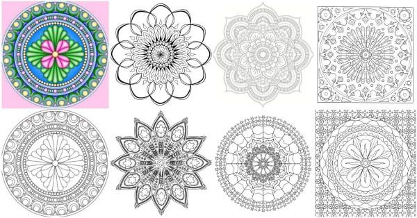 coloring pages mandalas # 46