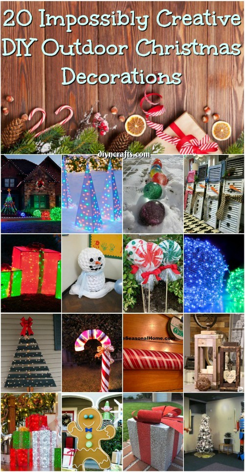 20 Impossibly Creative DIY Outdoor Christmas Decorations ... on Lawn Decorating Ideas id=18684
