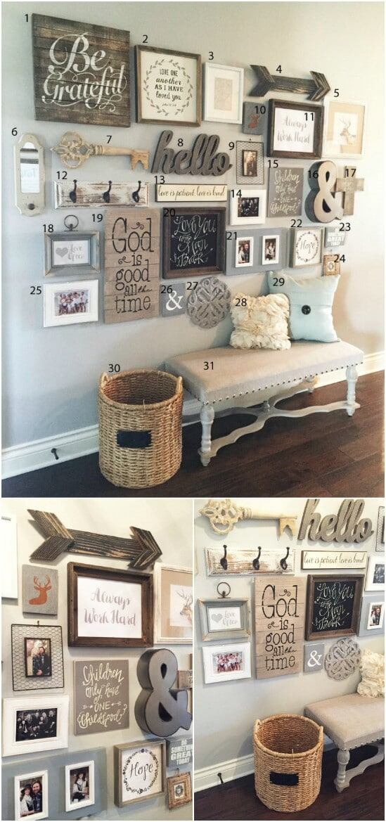 1 gallery wall decor diyncraftscom farmhouse furniture collection
