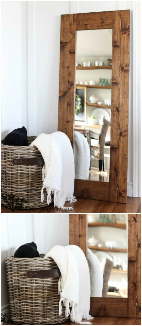 10 wood framed mirror diyncraftscom farmhouse furniture collection