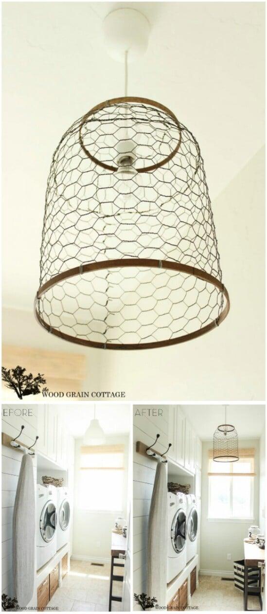 11 chicken wire lantern diyncraftscom farmhouse furniture collection