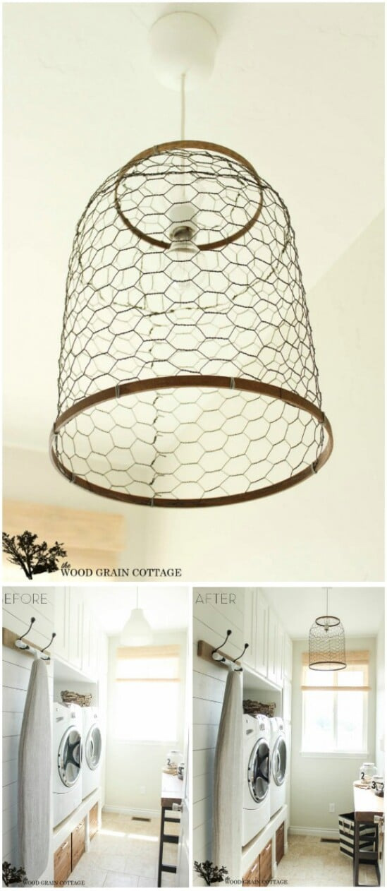 11 chicken wire lantern diyncraftscom farmhouse furniture collection