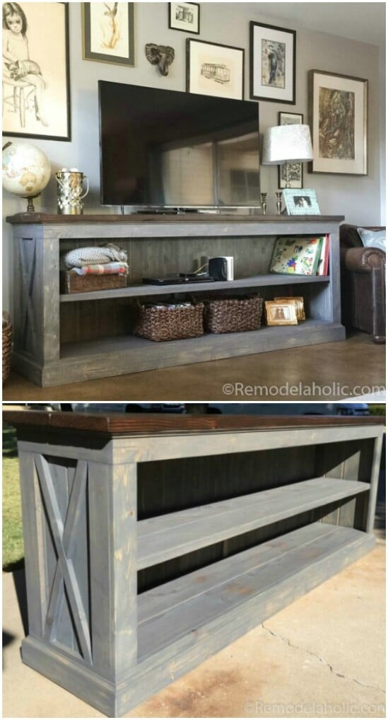 47 tv table diyncraftscom farmhouse furniture collection