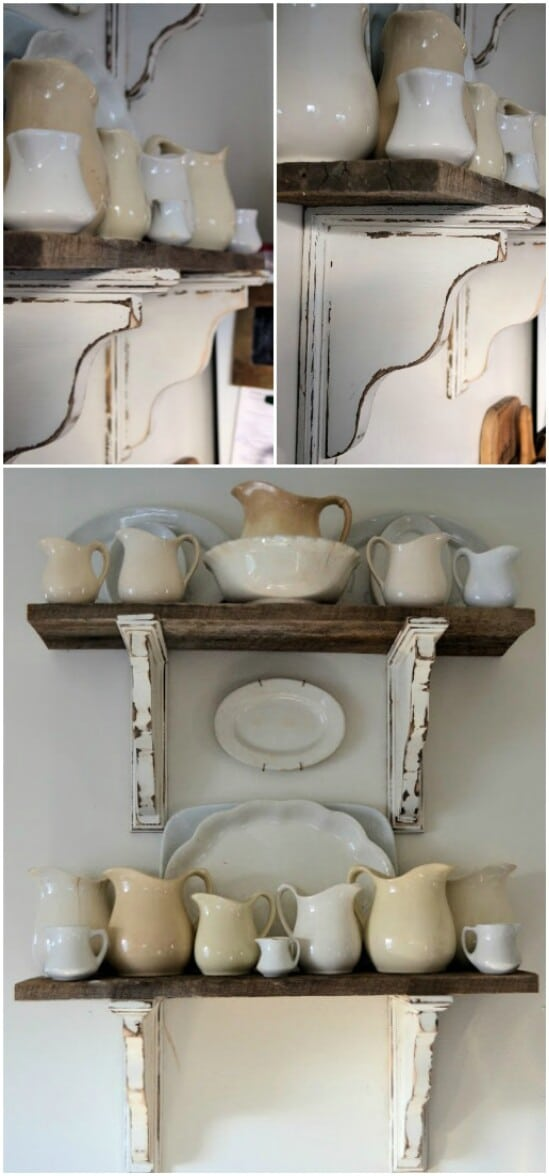 5 barn wood shelf diyncraftscom farmhouse furniture collection