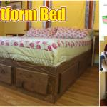 How To Build A King Size Bed With Extra Storage Underneath Free Plans Diy Crafts