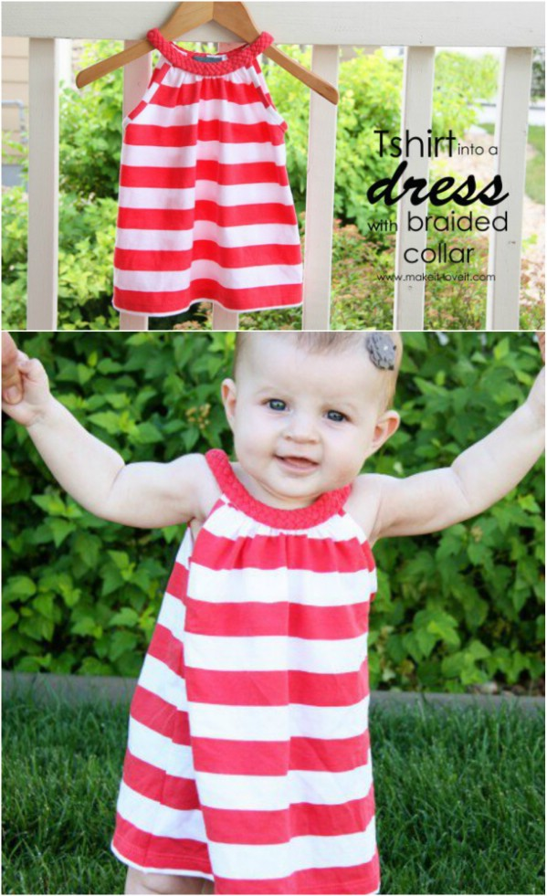 T-Shirt Repurposed Into Baby Dress