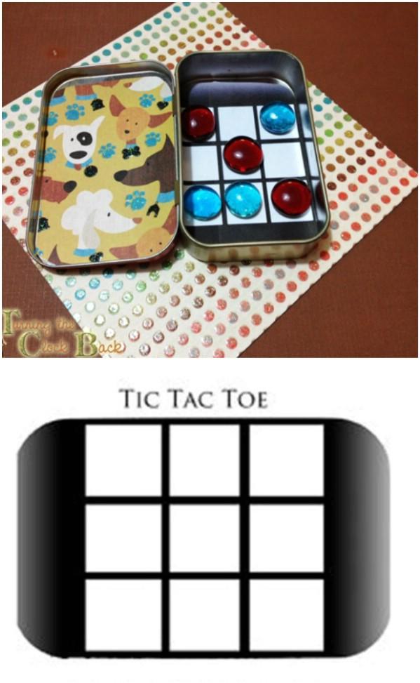 DIY Tic-Tac-Toe Travel Game