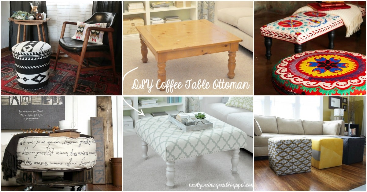 20 Fabulously Decorative Ottomans You Can Easily Make Yourself Diy Crafts