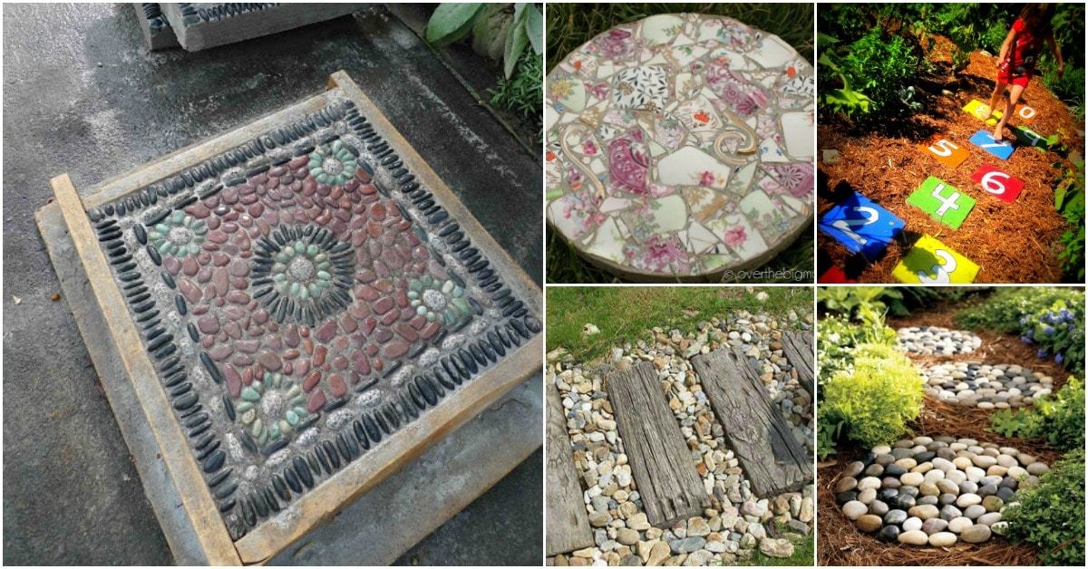 25 Top Garden Stepping Stone Ideas For A Beautiful Walkway ... on Stepping Stone Patio Ideas  id=61549