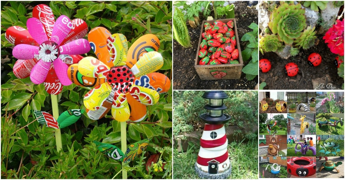 30 Adorable Garden Decorations To Add Whimsical Style To ... on Diy Garden Decor  id=50544