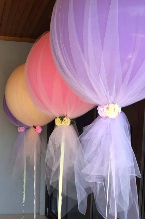 DIY Tulle Wrapped Balloons