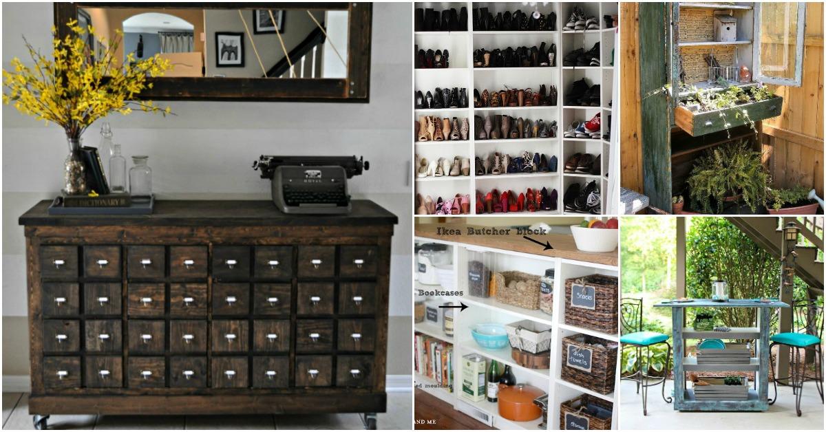 30 Genius Ideas For Repurposing Old Bookcases Into