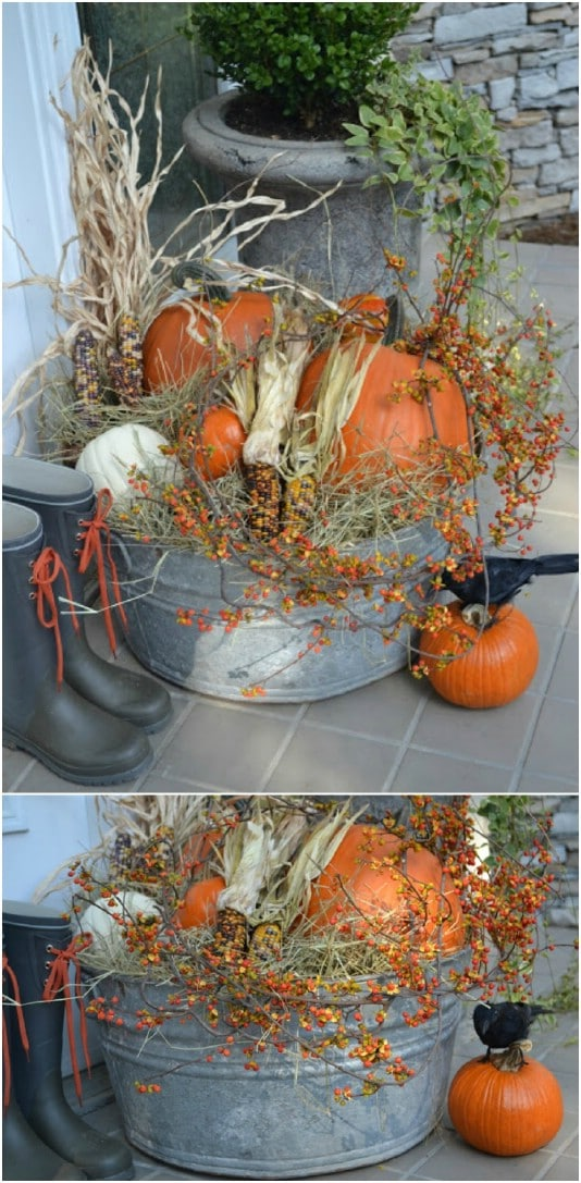 20 DIY Outdoor Fall Decorations That'll Beautify Your Lawn ... on Easy Diy Garden Decor id=34986
