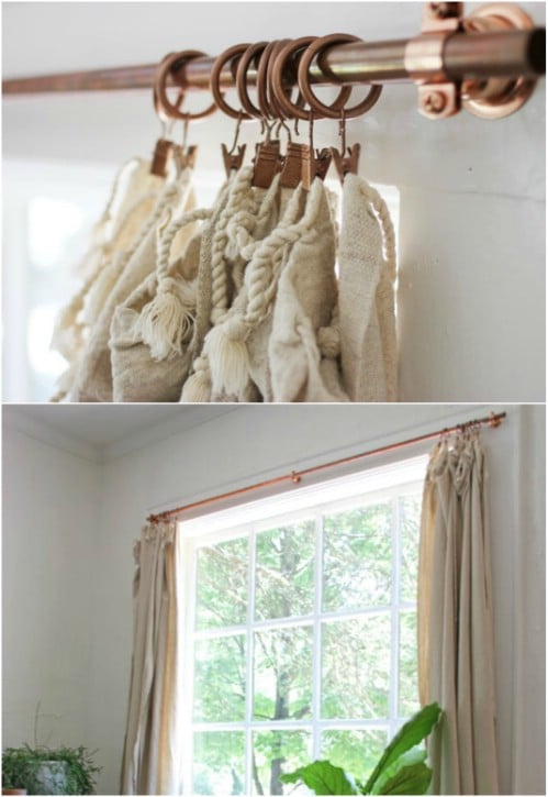 16 diy curtain rods and hooks that give