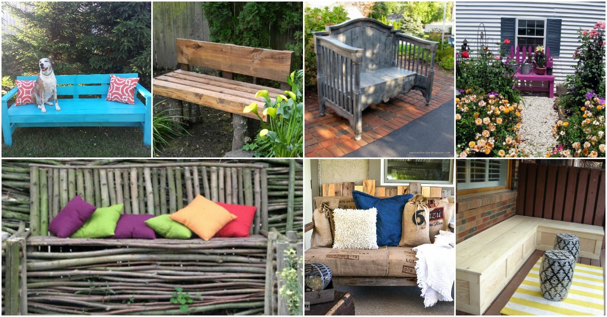 18 Decorative Diy Garden Benches That Add Warmth And Comfort To Your Outdoors Diy Crafts