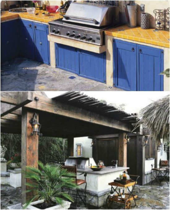 15 Amazing DIY Outdoor Kitchen Plans You Can Build On A ... on Patio Kitchen Diy  id=11406