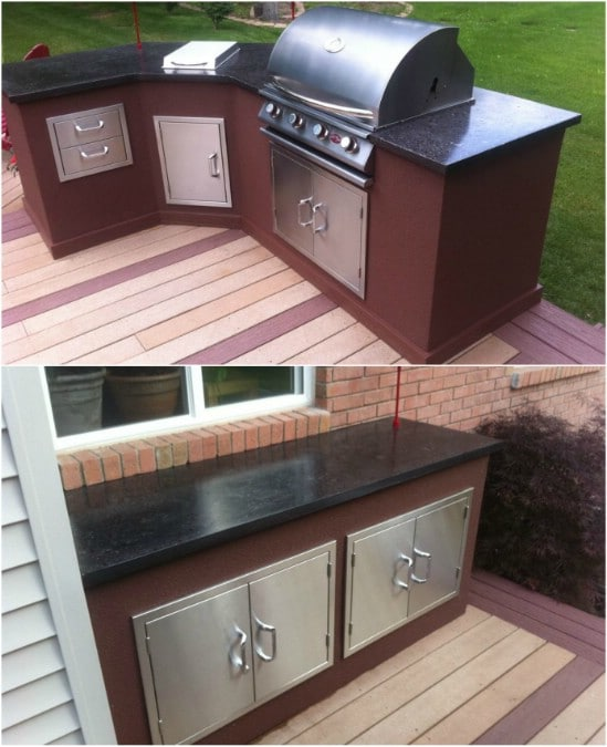 15 Amazing DIY Outdoor Kitchen Plans You Can Build On A ... on Patio Kitchen Diy  id=14393