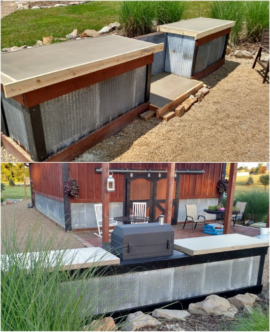 15 Amazing DIY Outdoor Kitchen Plans You Can Build On A ... on Patio Kitchen Diy  id=56759