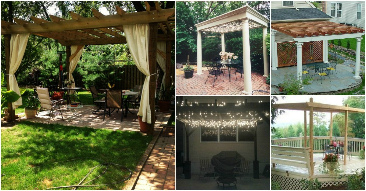 20 DIY Pergolas With Free Plans That You Can Make This ... on Covered Pergola Ideas  id=75555