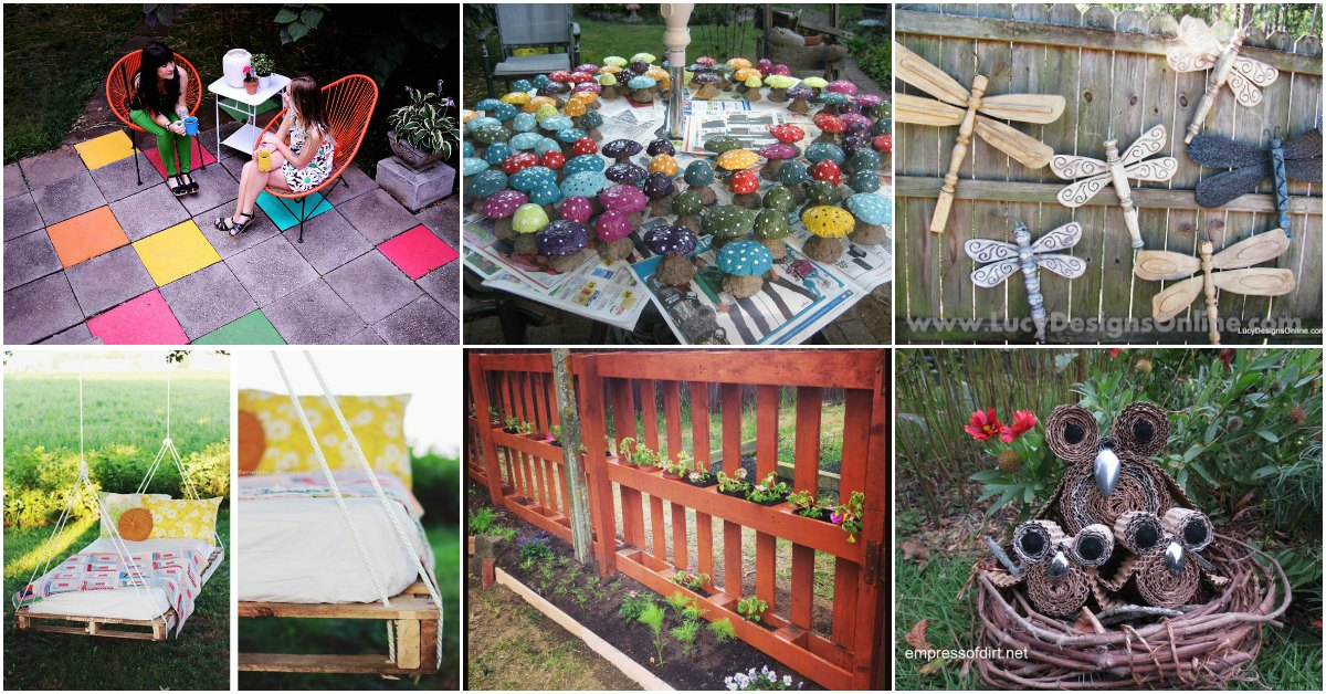 15 Creative DIY Garden Decor Projects That Fit Into Any ... on Easy Diy Garden Decor id=36524