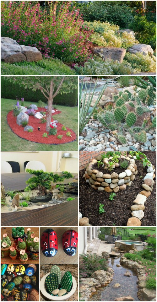 10 Gorgeous And Easy DIY Rock Gardens That Bring Style To ... on Small Garden Ideas With Rocks id=55531