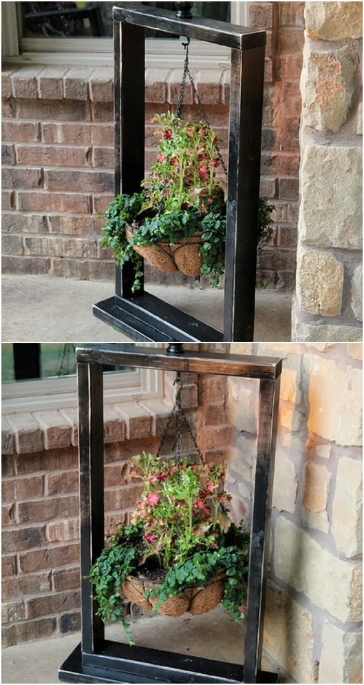 10 Easy DIY Outdoor Plant Stands To Show Off Those Patio ... on Plant Stand Hanging  id=77109