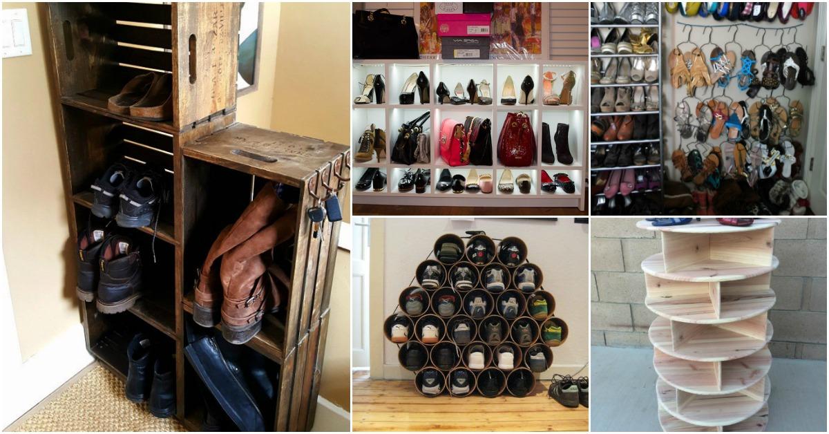 20 outrageously simple diy shoe racks