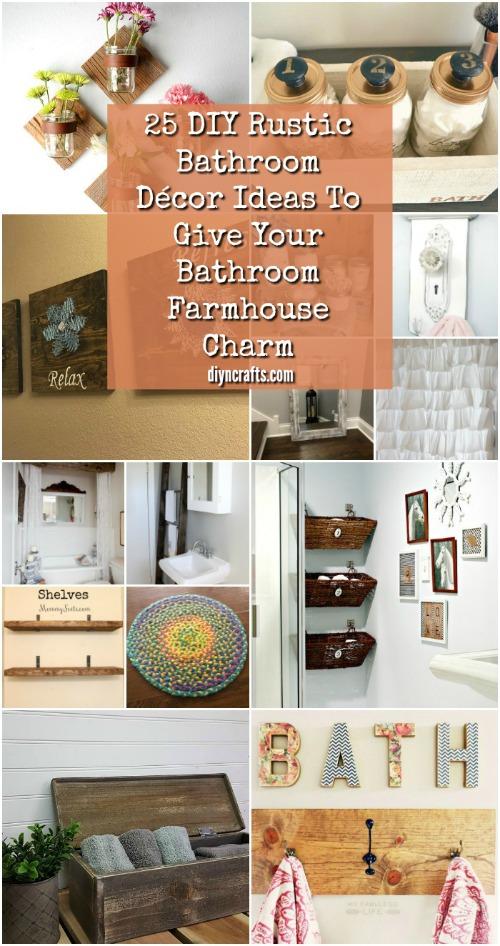 25 DIY Rustic Bathroom Décor Ideas To Give Your Bathroom ... on Rustic Farmhouse Farmhouse Bathroom  id=33228