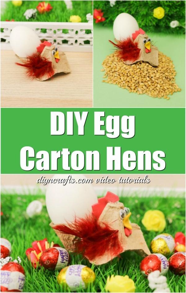 Cute Egg Carton Easter Hens